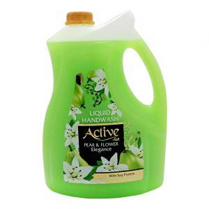 مایع دستشویی 3.75 لیتری صدفی حاوی پروتئین سویا سبز اکتیو |